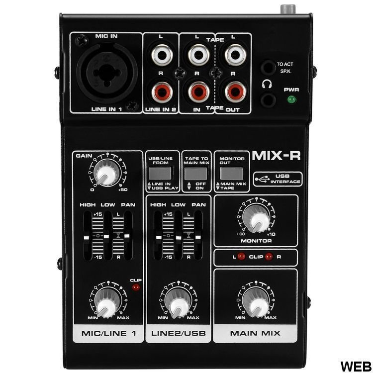 Portable Mini 3 CH USB Mixer SP1042