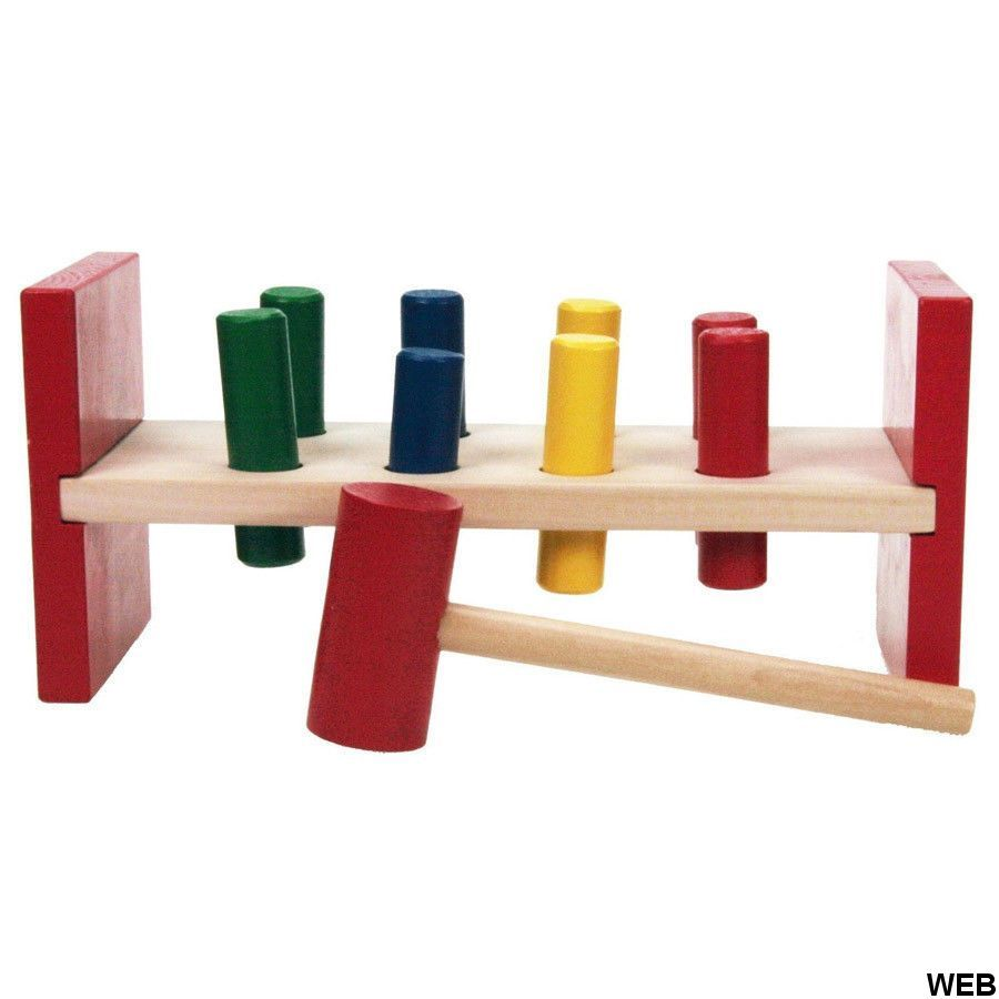Game table with wooden hammer Marionette Wooden Toys ED906