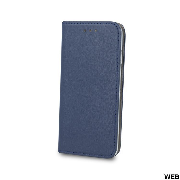 Case for Samsung Galaxy S10 FLIP imitation leather Navy blue magnetic closure MOB664