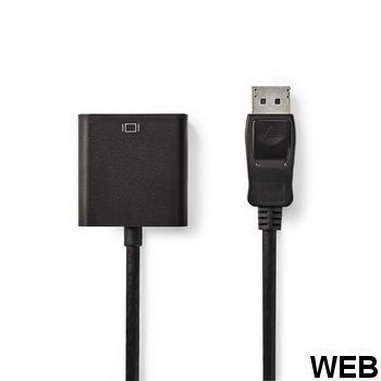 DisplayPort cable - DVI |Male DisplayPort - DVI-D 24 + 1 pin female |0.2 m |Black CCGB37250BK02 Nedis