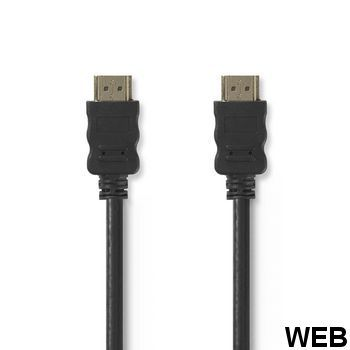 High speed HDMI cable with Ethernet - HDMI connector - HDMI connector - 2.0 m - Black ND1186 Nedis