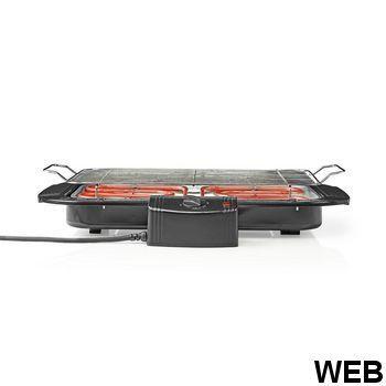Electric Barbecue |Rectangular |38 x 22 cm |2000 W BBQE110BK Nedis