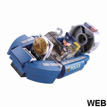 Construction Police Series Hoovercraft M38-B0638A Sluban