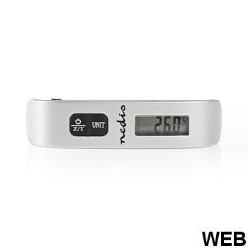 Digital Luggage Scale |50 kg (110 pounds) |Thermometer SCLU110GY Nedis