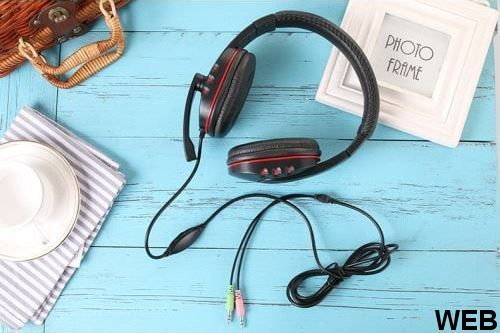 Tucci X6 gaming headset with microphone - Red color MOB1095