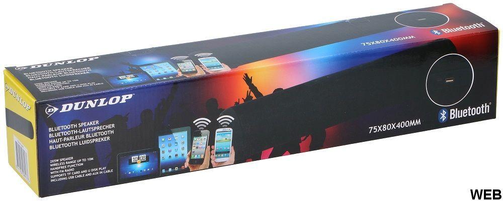 Bluetooth Speaker FM Radio USB SD 8X40cm 2x5W black Dunlop ED5294 Dunlop