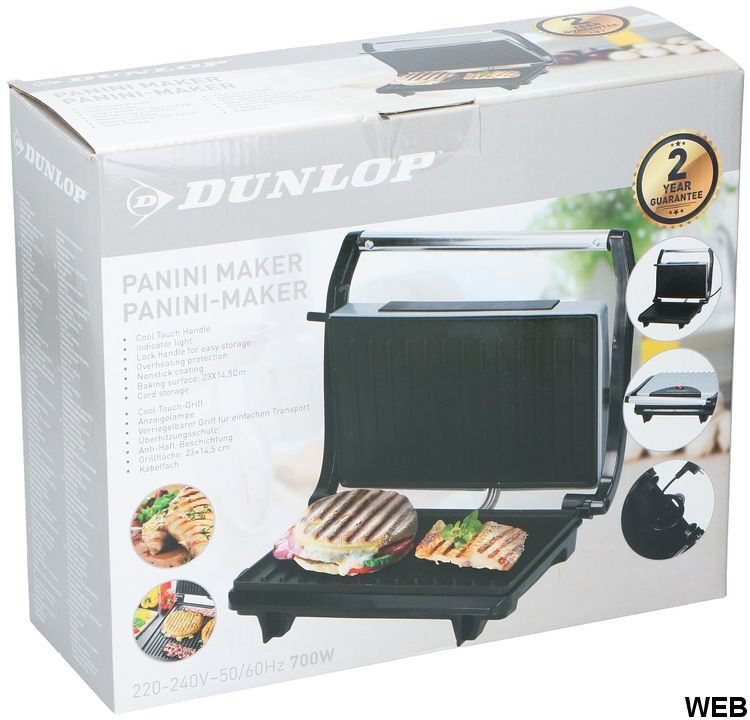 700W Dunlop electric toasting grill ED5362 Dunlop