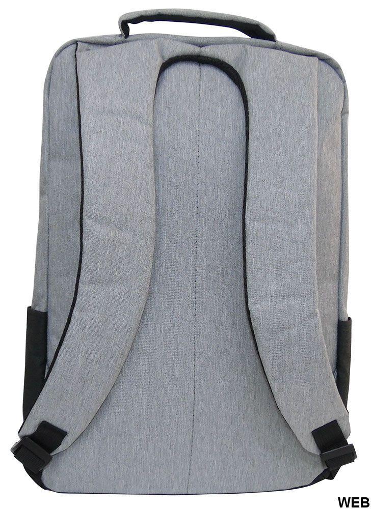Gray-black padded multi-function backpack MOB1030