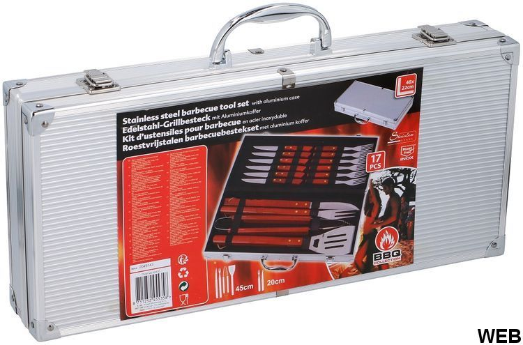 Bbq Collection 16 Stainless Steel BBQ Tool Case ED5476 Bbq Collection