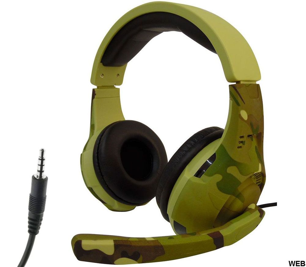 Tucci A4 gaming headphones with microphone - Camouflage light green MOB1100 Tucci