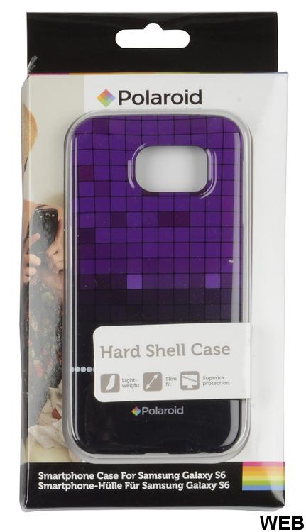 Purple Check Design Back Cover for Samsung Galaxy S6 Polaroid MOB1135 Polaroid