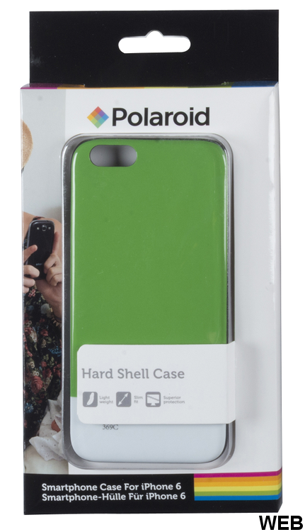 Glossy Green White Black Back Cover for iPhone 6 Polaroid MOB1153 Polaroid