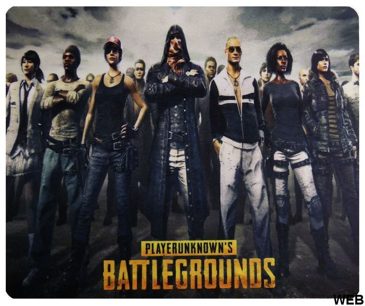 Mouse Mat 22x18 cm PlayerUnknown's Battlegrounds Characters lined up P1364