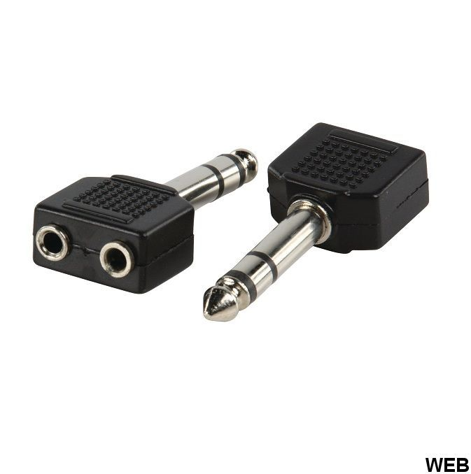 Stereo Audio Adapter 6.35 mm Male - 2x 3.5 mm Female Black ND1385 Valueline