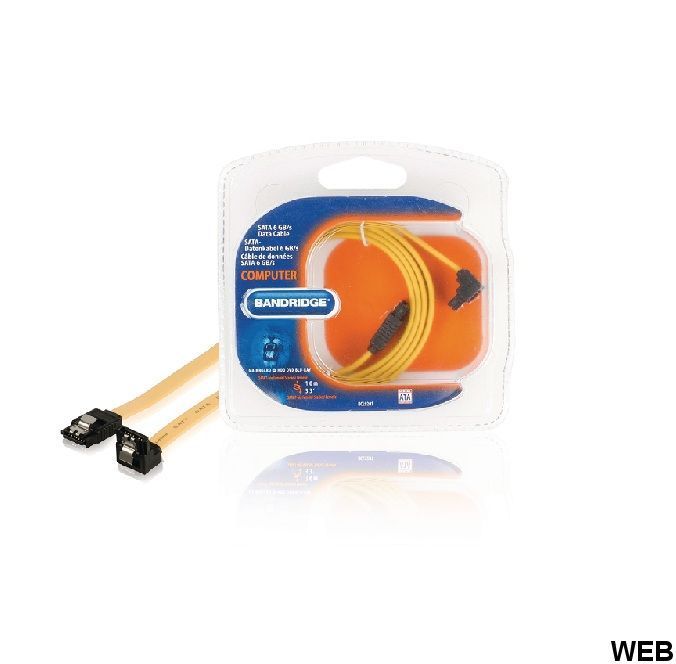 SATA 6 Gb / s Internal SATA 7-Pin Female - SATA 7-Pin Female 1.00 m Yellow cable ND1015 Bandridge