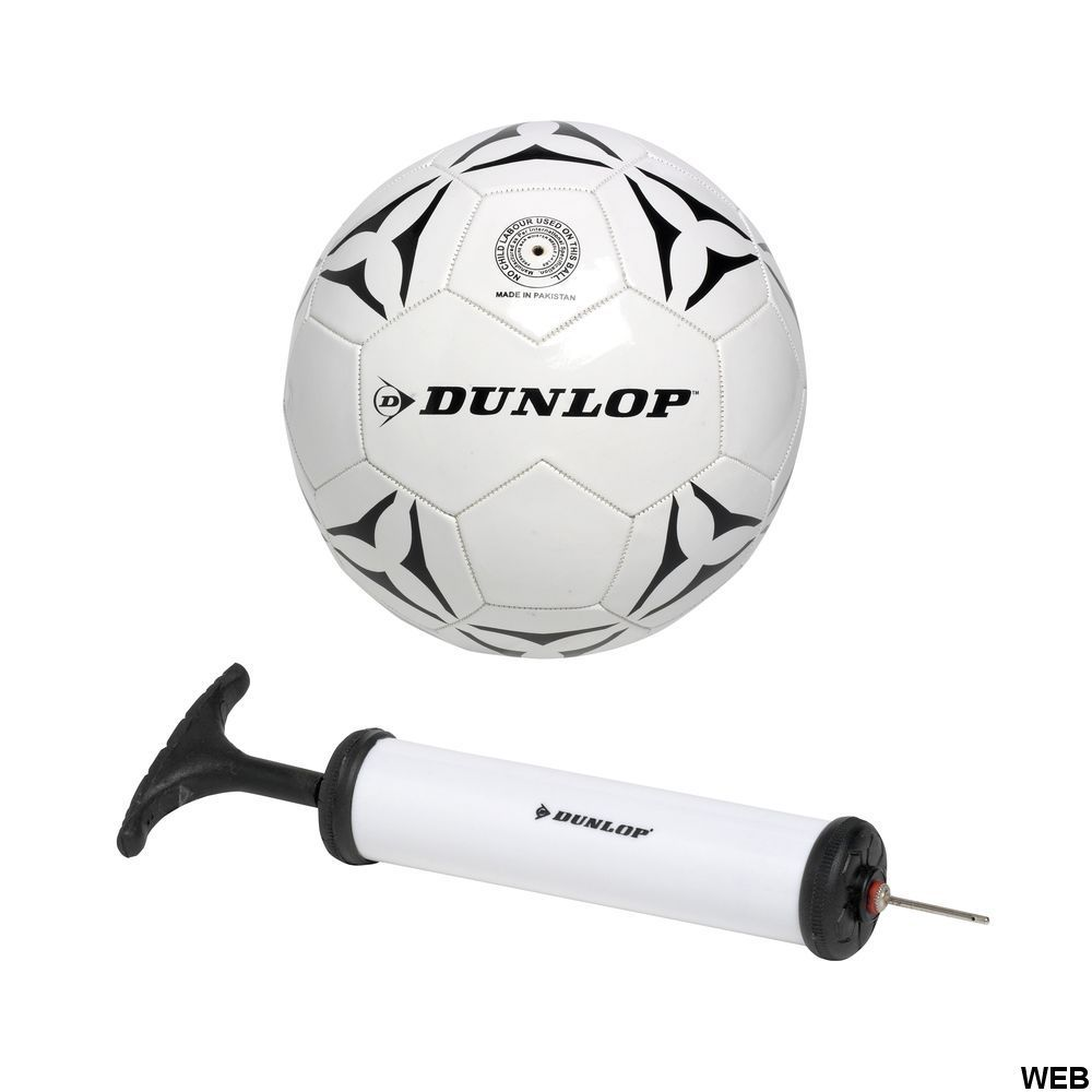 Soccer ball size 5 and pump with Dunlop needle ED354 Dunlop