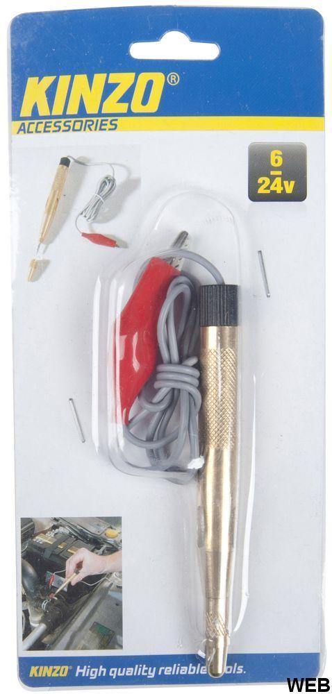 6-24V circuit tester with tip and Kinzo bulb ED5549