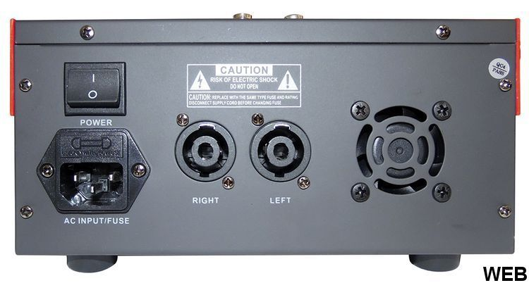 Amplified mixer 2x100W 4CH with Phantom and USB V3067