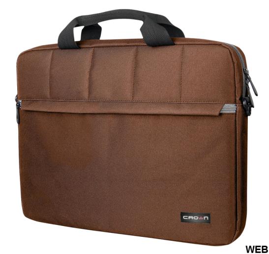 "Laptop bag 15.6 ""Brown CMB-501 Crown Micro"