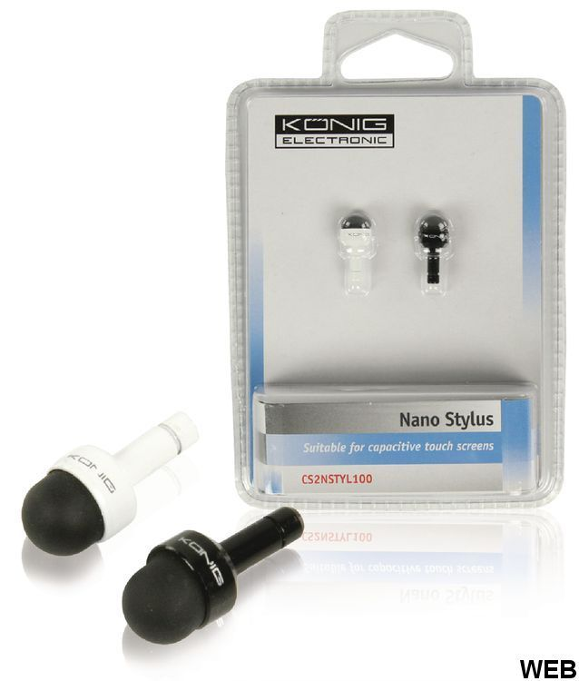 Stylus rubber tip black / white for Smartphone / Tablet ND2650 König