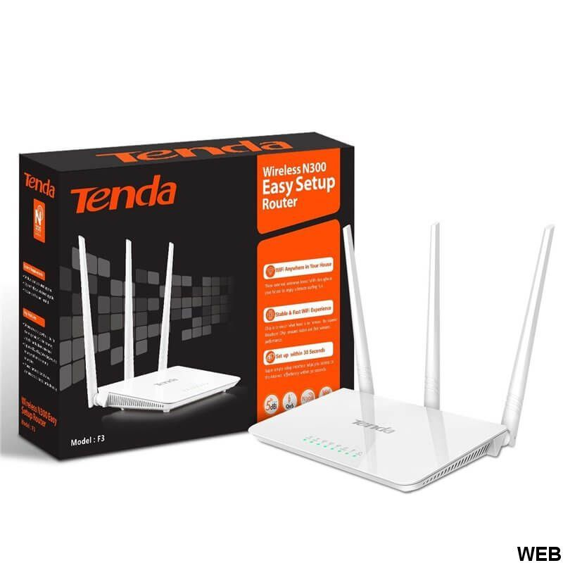 300Mbps wireless router Tent F3 Tenda