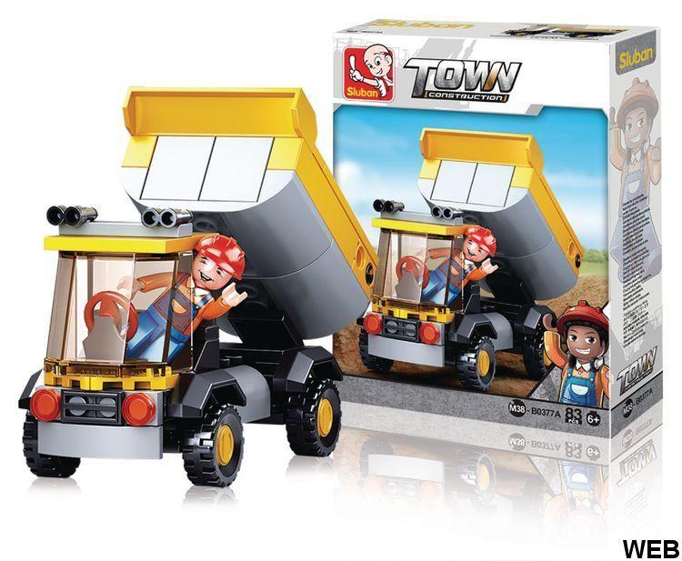 Construction Town Series Small pickup truck M38-B0377A Sluban