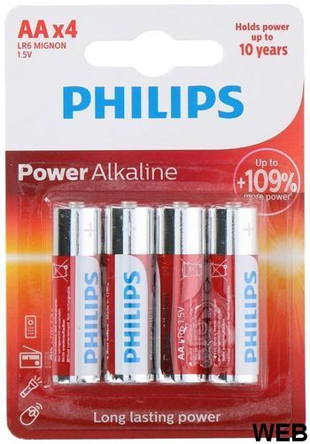 Philips LR6 / AA batteries pack of 4 ED4202 Philips