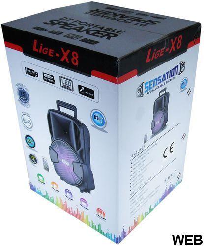 """Acoustic speaker 8 """"Battery LED light Bluetooth / SD / USB / Radio LiGE-X8 LIGE-X8"""