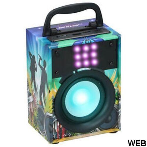 Dunlop USB Aux MP3 Portable Bluetooth Speaker with LED Light Effects Speaker ED4180 Dunlop