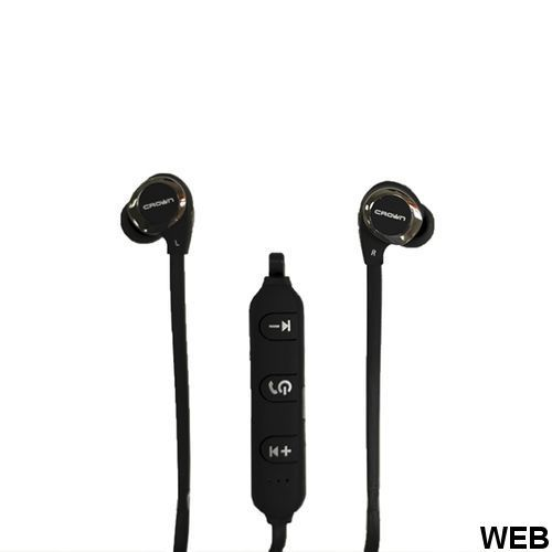 Crown Micro Black Stereo Bluetooth Headset CMBE-503 Crown Micro