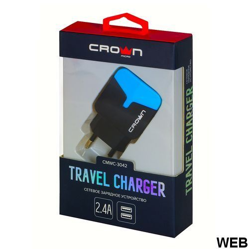 Crown Micro travel charger CMWC-3042-B Crown Micro