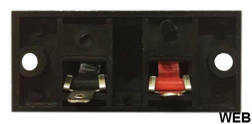 Terminal Block for Loudspeakers 2 Poles 52x24mm SP6109