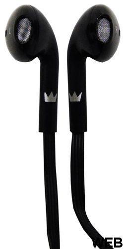Earphones jack cable 3.5mm black Crown Micro CME-205 Crown Micro