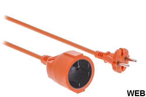Power supply extension 20 m H05VV-F 2X1.5 Orange ND1450 König