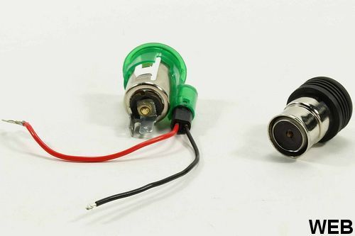 Car cigarette lighter with integrated socket 12V 8A All Ride ED4278 All Ride