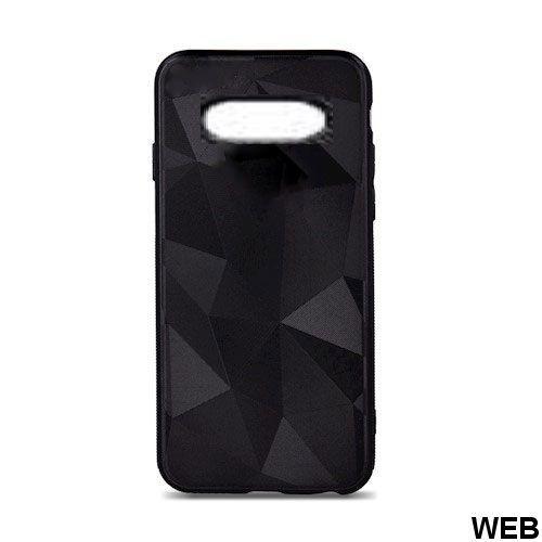 Custodia opaca geometrica per Samsung S10e nera MOB1474 Oem