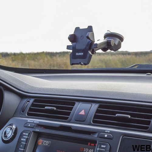 Extendable smartphone holder for car with suction cup ND1151 Sweex