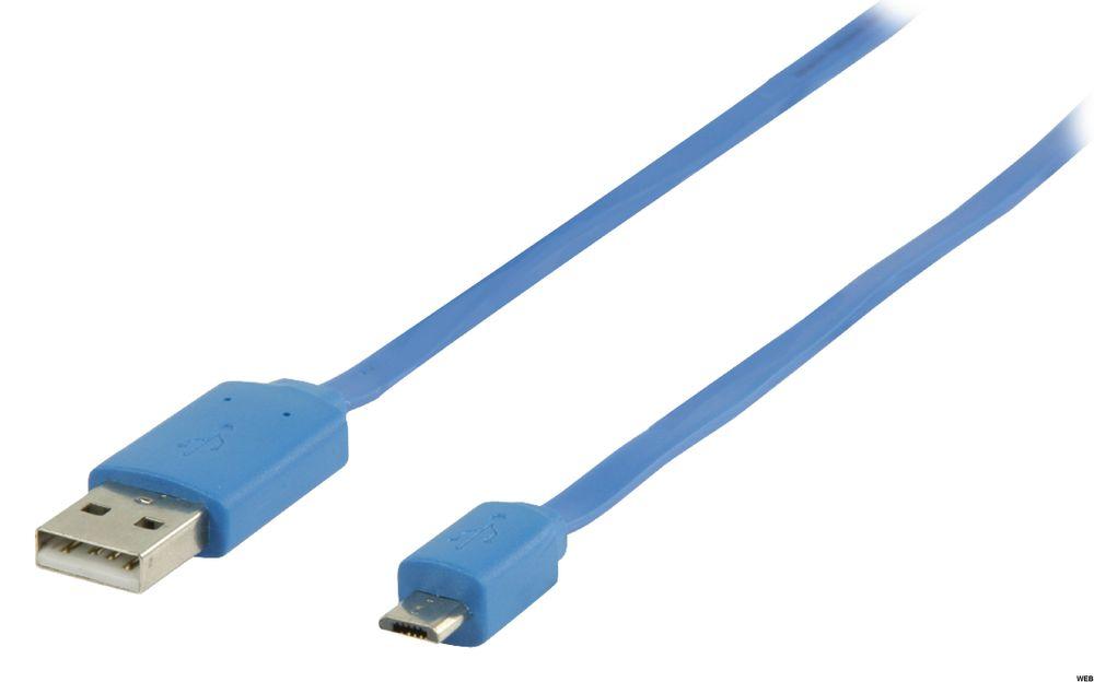 Cavo USB 2.0 USB A Maschio - Micro B Maschio Piatto 1.00 m Blu ND1955 Valueline