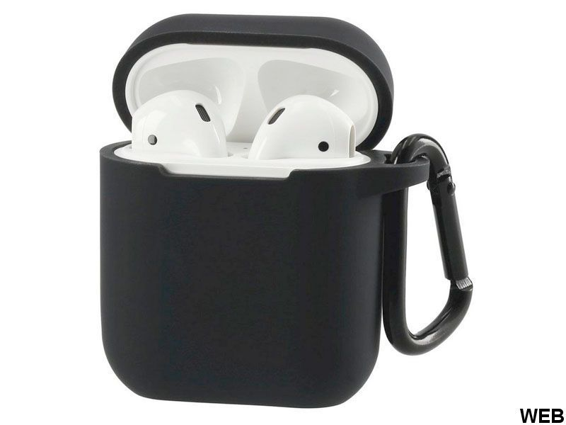 Protective Silicone Cover for Airpods 1 & 2 (Black) MOB1259