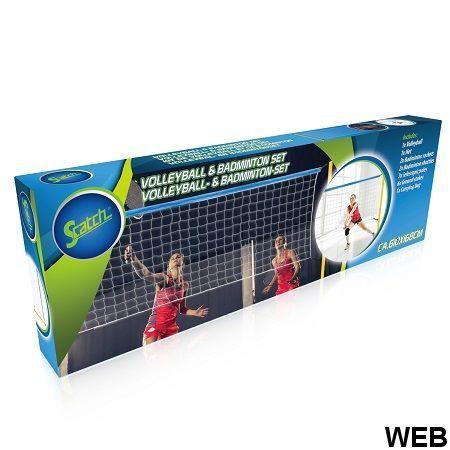 Set Volleyball & badminton - rete 310x168cm - Scatch ED6084 Scatch