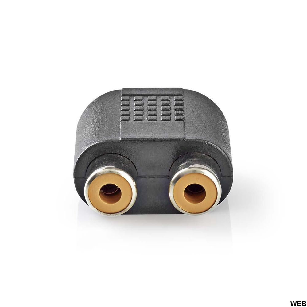 Adattatore audio stereo Maschio da 3,5 mm - 2x Femmina RCA 10 pezzi Nero ND2765 Nedis