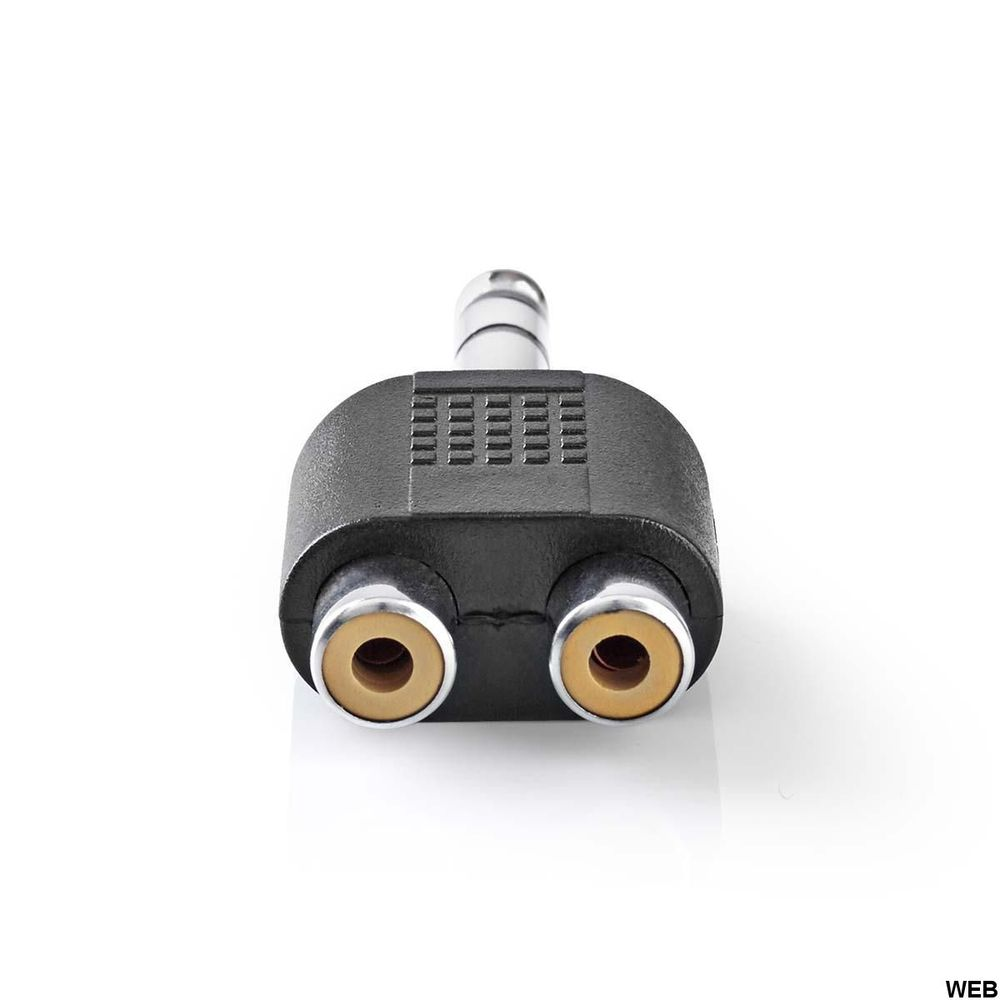 Adattatore audio stereo Maschio da 6,35 mm - 2x Femmina RCA 10 pezzi Nero ND2725 Nedis