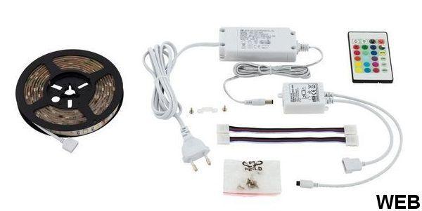 Striscia flessibile LED 2m - Luce RGB con telecomando R815 Eglo