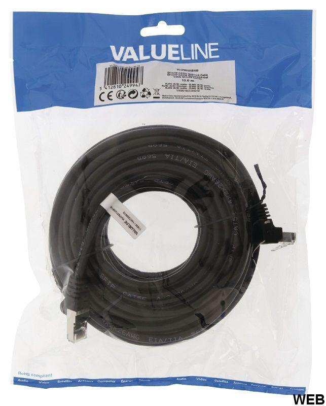 CAT5e SF / UTP cable Network RJ45 (8P8C) Male - RJ45 (8P8C) Male 10.0 m Black ND9120 Valueline