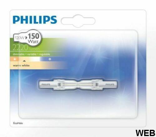 Lampadina Alogena R7s 120W luce calda 2900K 2220 lumen Philips R660 Philips