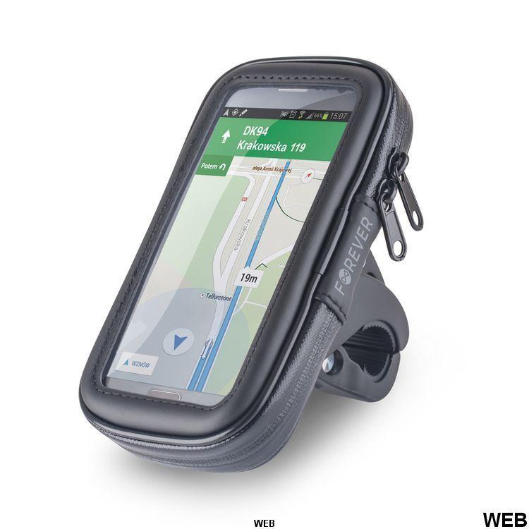 """Supporto Smartphone 5,5"""" per bicicletta con custodia impermeabile Forever MOB268 Setty"""