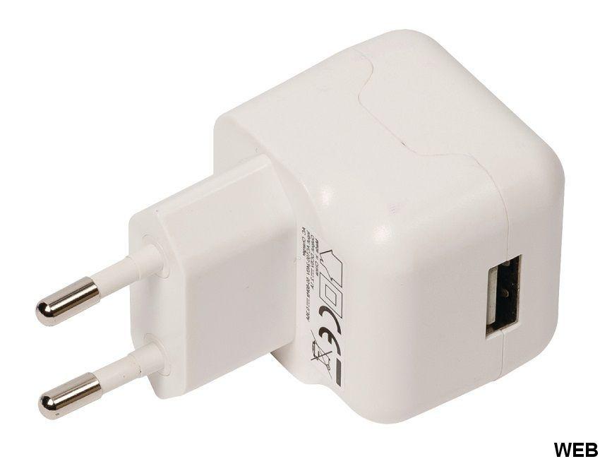 Caricatore a Muro 1-Output 2.1 A 2.1 A USB Bianco ND2612 Valueline