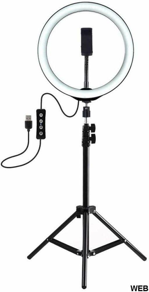 Luce ad Anello LED 10,2'' con Treppiede e regolazione della luce R196