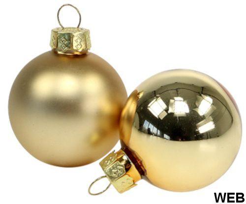 Confezione 12 palline natalizie 6cm oro Christmas Gifts ED262 Christmas Gift