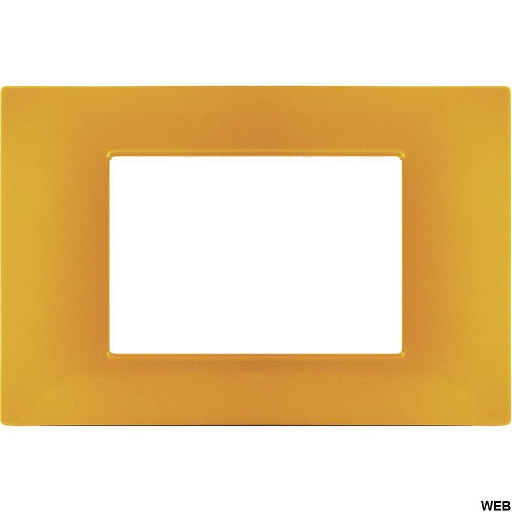 Placca 3P Tecnopolimero 12x8cm Arancio compatibile Vimar EL1970